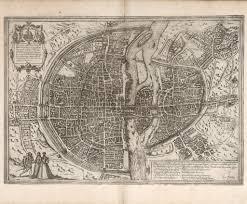 Map Of Paris France Renaissance Map Of Paris France 16th Century City Map
