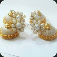 pachi earrings silk thread jhumkas with pachi stud at rs 150 pair s earring