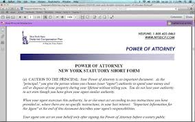 Free Download Of Power Of Attorney Form by How To Fill In A New York Power Of Attorney Form Youtube
