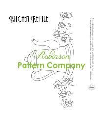 kitchen towel designs pdf vintage 1930s embroidery design sheet kitchen kettle