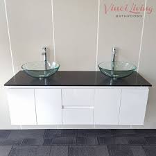Black Bathroom Vanity Units by Nova 1500mm Wall Hung Bathroom Vanity Unit Black Stone Top