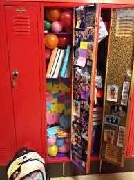 decorate your best friends locker with balloons and post its with