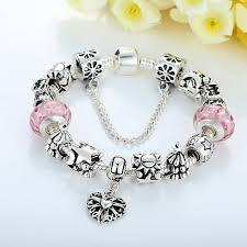 european bracelet chain images European charm bracelet with heart for women 3 designs jusgift jpg