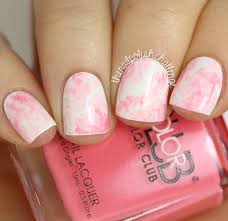 kelli marissa pink marble watercolor nail art