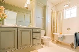 Painted Bathroom Cabinet Ideas Amazing Large Painting Bathroom Cabinets With Bathtub And