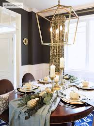 Aqua Dining Room Citrineliving Gold And Aqua Thanksgiving Table