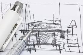 interior design sketch freehand sketch of interior design with drawing tools macro stock