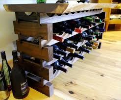 diy pallet wine rack with glass holder pallets designs