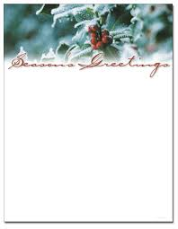 holly and berries letterhead holiday papers pinterest