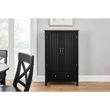black kitchen pantry cupboard stylewell bainport black with top wood kitchen pantry