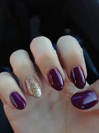 beautiful maroon and glitter oval nails dolled up pinterest