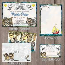 Baby Shower Invitations And Thank You Cards Where The Wild Things Are Baby Shower Invitation Set Invitation