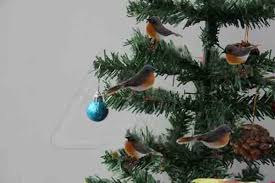 10pcs robin bird christmas tree decoration craft very cute