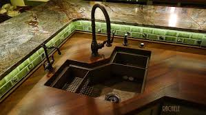 Single Bowl Corner Kitchen Sinks Rachiele Copper And Stainless - Corner sink for kitchen