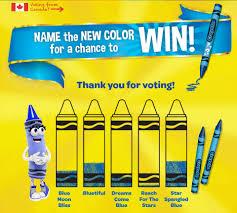 the crayon blog crayola name the new blue contest