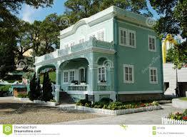 preserved colonial house macau taipa royalty free stock image