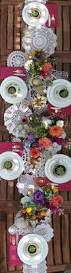 rooftop summer vintage table setting by the sweet escape