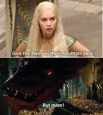 The Hobbit Meme - emilia clark smaug argue over the hobbit s mountain