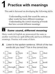same words different meanings practice with meanings same sound different meaning english