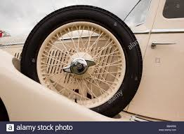 motoring spare wheel on side of of 1935 ss1 airline streamlined