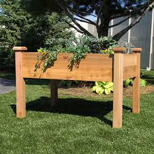 Raised Garden Bed With Bench Seating Garden Beds Costco
