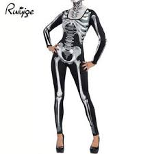 womens skeleton jumpsuit ruiyige womens skeleton bodysuit jumpsuit fancy dress