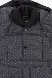 bureau d ot black polka dot microfiber primaloft vest by engineered garments