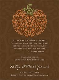 seasonal fall thanksgiving invitations filigree pumpkin