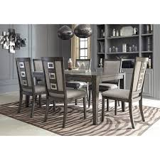 dining room table and chair sets signature design by chadoni gray dining room table with