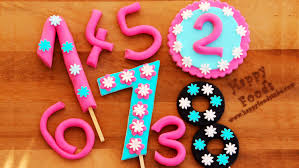 how to make fondant numbers for birthday cake happyfoods youtube