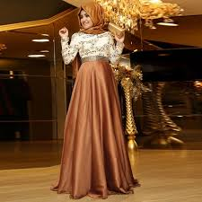 muslim evening dresses hijab beaded full sleeves evening dress