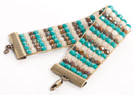 beading bracelet clasps images Selvage method of finishing loom beadwork loom bracelets jpg