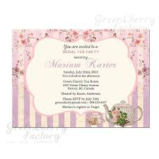 bridal tea party invitation tea party birthday invitation template free sle birthday