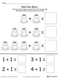 add one more frog addition printable maths worksheets addition