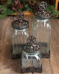 silverado glass star canister set 3 pieces looks like cabin fun