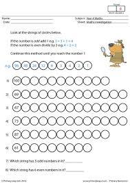 primaryleap co uk investigation 6 number strings worksheet