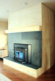 fireplace cover up slate side hiding brick ideas fixing ugly