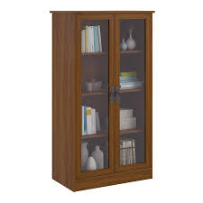 Antique White Bookcases by Amazon Com Altra Quinton Point Bookcase With Glass Doors Inspire