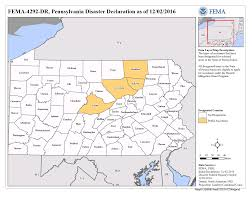 State Of Pennsylvania Map by Pennsylvania Severe Storms And Flooding Dr 4292 Fema Gov