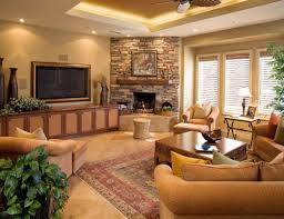 Marvelous Living Room With Corner Fireplace - Furniture placement living room with corner fireplace