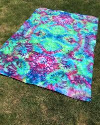 Trippy Comforters Tie Dye Tapestry Psychedelic Trippy Hippy Festival Hippie Beach