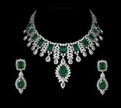 silver emerald necklace images Very nice emerald bridal necklace with matching earrings gleam jewels jpg