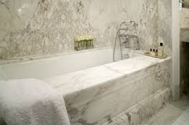 Marble Bathroom Master Bath Slab Walls Calacatta Vagli Adr Bathrooms