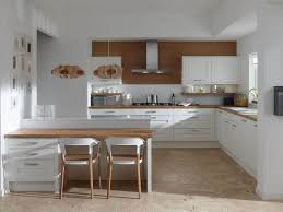 White Table L L Shaped Kitchen Island Designs With Seating And Wooden Dining