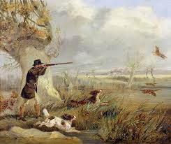 duck painting duck shooting by henry thomas alken
