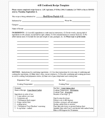 cookbook templates create your own recipe book word pdf