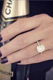large engagement rings picture of a gold engagement ring with a large square diamond is a