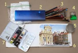gurney journey light sketching supplies