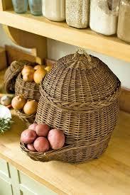 how to clean wicker baskets onion u0026 potato storage baskets gardeners com