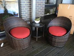 Asda Direct Armchairs Jakarta Pair Of Egg Chairs Red Home U0026 Garden George